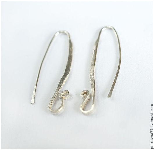 Для украшений ручной работы. Ярмарка Мастеров - ручная работа. Купить Длинные швензы из серебра 925 пробы, ручная работа. Handmade.