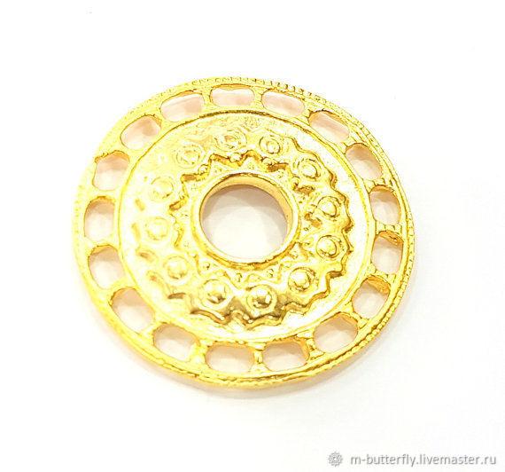 Подвеска-медальон, 39 мм, золото, Турция, Подвески, Красный Яр,  Фото №1