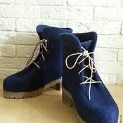 Обувь ручной работы. Ярмарка Мастеров - ручная работа Ботинки зимние. Handmade.
