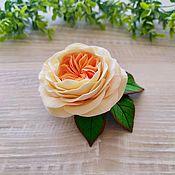 """Брошь-булавка ручной работы. Ярмарка Мастеров - ручная работа Брошь """"Английская роза"""". Handmade."""