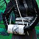 Пояса, ремни ручной работы. Пояс кушак из натуральной кожи под питона Черно-белый. Каторина Рукодельница HandMadeButik. Интернет-магазин Ярмарка Мастеров.