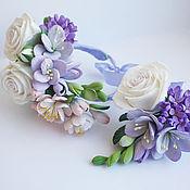 Свадебный салон ручной работы. Ярмарка Мастеров - ручная работа Весенний браслет с цветами из полимерной глины. Handmade.