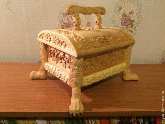 Копилки ручной работы. Ярмарка Мастеров - ручная работа. Купить Сундучок из дерева ручной работы, резьба орнаментальная, рельефная. Handmade.