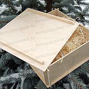 Материалы для творчества ручной работы. Ярмарка Мастеров - ручная работа Разборная коробка 20х20 см с крышкой из фанеры. Handmade.