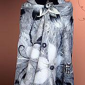 """Аксессуары ручной работы. Ярмарка Мастеров - ручная работа Палантин """"Белые лилии"""". Handmade."""