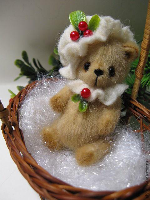 Мишки Тедди ручной работы. Ярмарка Мастеров - ручная работа. Купить Мишка. Handmade. Бежевый, подарок к Новому году