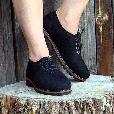 Обувь ручной работы. Ярмарка Мастеров - ручная работа Туфли валяные Midnight. Handmade.