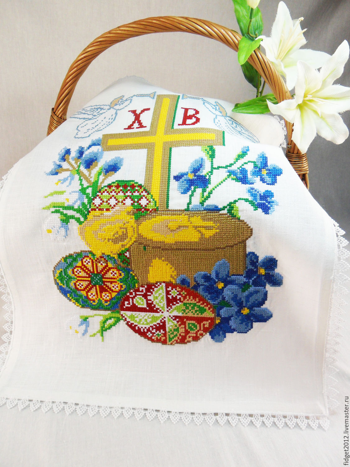 Easter napkin resurrection shop online on livemaster with shipping easter gifts handmade livemaster handmade buy easter napkin resurrection negle Gallery
