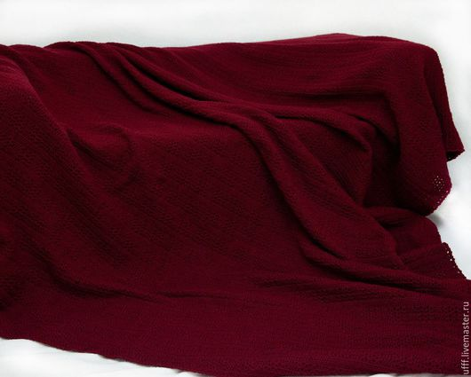 Текстиль, ковры ручной работы. Ярмарка Мастеров - ручная работа. Купить Плед вишнёвый. Handmade. Бордовый, ручная работа, уютный