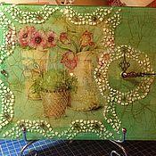Для дома и интерьера ручной работы. Ярмарка Мастеров - ручная работа Часы в стиле прованс. Handmade.
