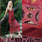 Одежда ручной работы. Ярмарка Мастеров - ручная работа Костюм женский льняной  КARUNKI. Handmade.