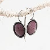 Украшения handmade. Livemaster - original item Earrings made of silver and wood (amaranth). Handmade.