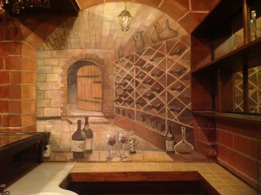 Декор поверхностей ручной работы. Ярмарка Мастеров - ручная работа. Купить роспись стен бара. Handmade. Роспись стен