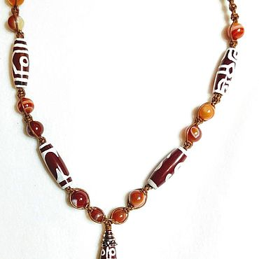 Decorations handmade. Livemaster - original item Necklace: Carnelian. Handmade.
