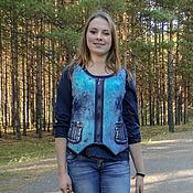 """Одежда ручной работы. Ярмарка Мастеров - ручная работа Жилет """"Вареные джинсы"""". Handmade."""