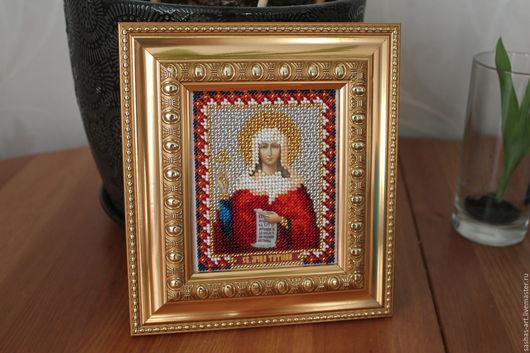 Иконы ручной работы. Ярмарка Мастеров - ручная работа. Купить Икона святой мученицы Татьяны бисером. Handmade. Именная икона