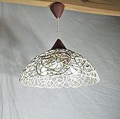 Для дома и интерьера handmade. Livemaster - original item Cream Dory with chocolate - lamp with three lamps. Handmade.