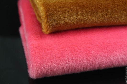 Куклы и игрушки ручной работы. Ярмарка Мастеров - ручная работа. Купить Мех коротковорсовый 50х50 см. Handmade. Розовый