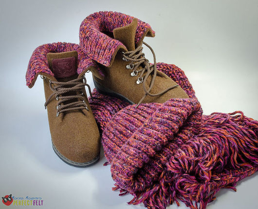 "Ботинки "" Розовый Монблан"""