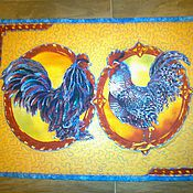 Салфетки ручной работы. Ярмарка Мастеров - ручная работа петушки, кантри,кухня,дизайн интерьера. Handmade.