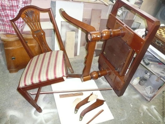 Реставрация. Ярмарка Мастеров - ручная работа. Купить Ремонт стола и стула производства малайзия.. Handmade. Коричневый, перетяжка мебели