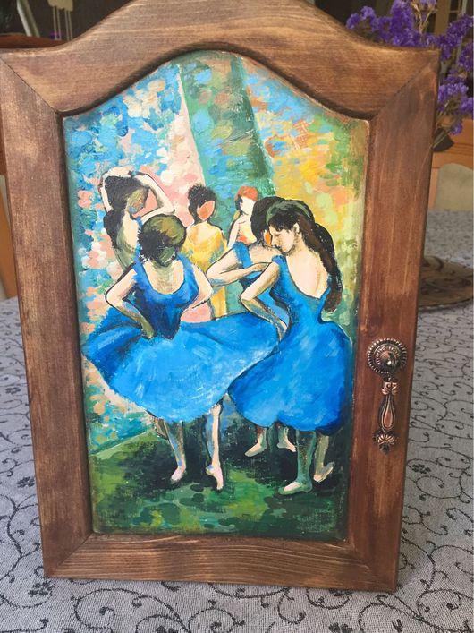 Прихожая ручной работы. Ярмарка Мастеров - ручная работа. Купить Ключница Голубые танцовщицы. Handmade. Ключница, копия картины