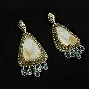 Украшения handmade. Livemaster - original item Drop earrings beaded embroidery. Handmade.