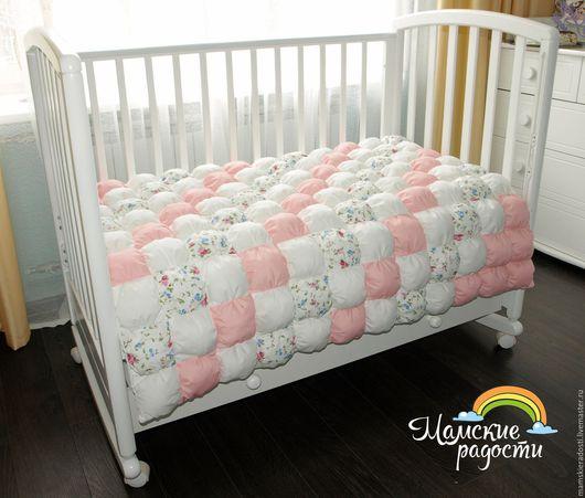 Пледы и одеяла ручной работы. Ярмарка Мастеров - ручная работа. Купить Бомбон одеяло. Handmade. Бледно-розовый, бомбон одеяло