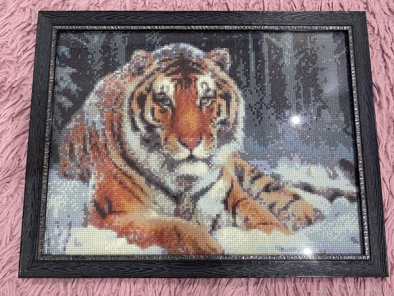 """Картина ручной работы """"Благородный Тигр"""" 43,8 см х 34 см, Картины, Москва,  Фото №1"""