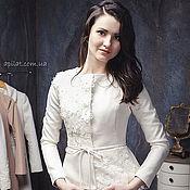 Одежда handmade. Livemaster - original item Woman Wool White Jacket C-6, Jackets and Coats, Christmas gift. Handmade.