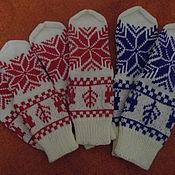 Аксессуары ручной работы. Ярмарка Мастеров - ручная работа Носки в скандинавском стиле, с оленями, вязаные на спицах. Handmade.