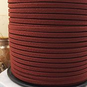 Материалы для творчества handmade. Livemaster - original item 1 m suede cord (isc.) 3 mm Bordeaux (5346). Handmade.