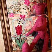 """Картины и панно ручной работы. Ярмарка Мастеров - ручная работа картина-коллаж """"Мечты мишки Вэнни"""". Handmade."""