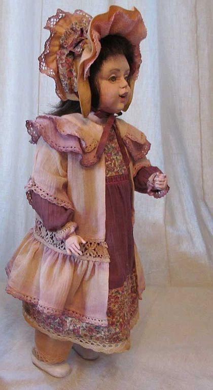 """Коллекционные куклы ручной работы. Ярмарка Мастеров - ручная работа. Купить Авторская кукла  """"Девочка"""". Handmade. Кукла из папье-маше"""