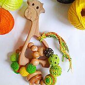 """Куклы и игрушки ручной работы. Ярмарка Мастеров - ручная работа Грызунок-прорезыватель """"Жираф"""". Handmade."""