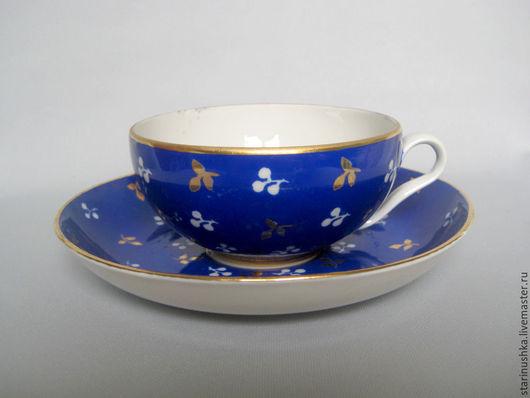 Винтажная посуда. Ярмарка Мастеров - ручная работа. Купить 1937-1947-е годы. Роскошная чайная пара. Дулево. Handmade.