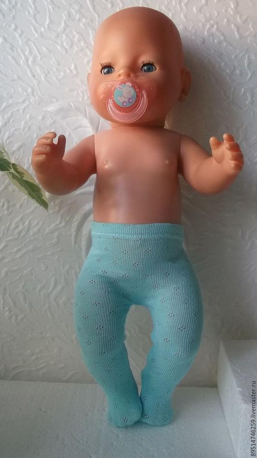 Одежда для кукол ручной работы. Ярмарка Мастеров - ручная работа. Купить Колготки для Беби Борн. Handmade. Голубой, колготки