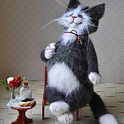 Куклы и игрушки handmade. Livemaster - original item And let the whole world wait.toy cat knitted. Handmade.