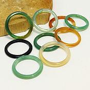 Украшения handmade. Livemaster - original item Set of thin rings 9 PCs dome of the forest. Handmade.