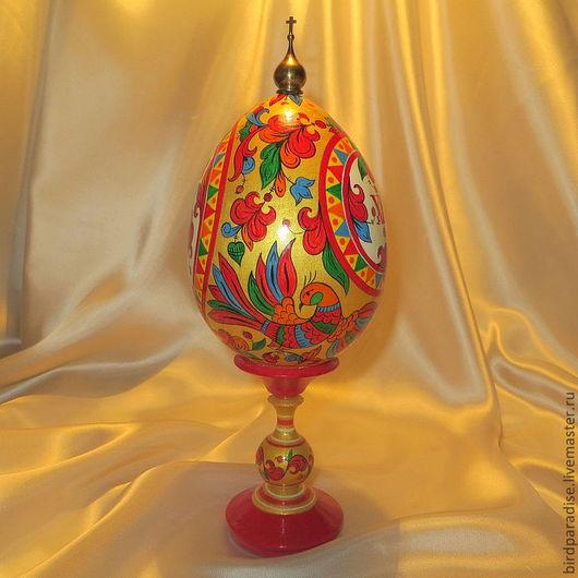 пасхальное яйцо расписное большое.