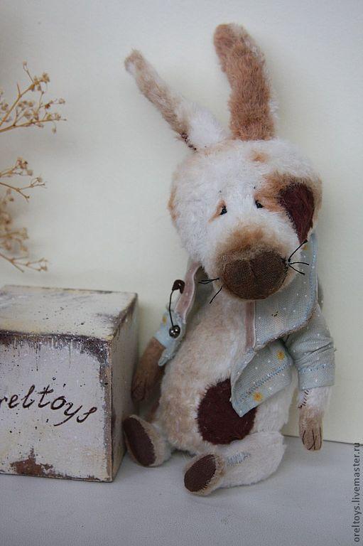 Мишки Тедди ручной работы. Ярмарка Мастеров - ручная работа. Купить Зайчик. Handmade. Белый, авторская ручная работа