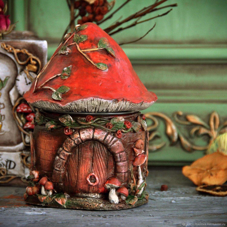 Банка для кофе или чая: Домик в терракотовых тонах, Домики, Санкт-Петербург,  Фото №1