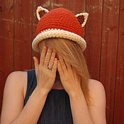 Аксессуары ручной работы. Ярмарка Мастеров - ручная работа шаляпка панда красная. Handmade.