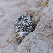 Украшения handmade. Livemaster - original item Lion Ring (Small) | Silver. Handmade.