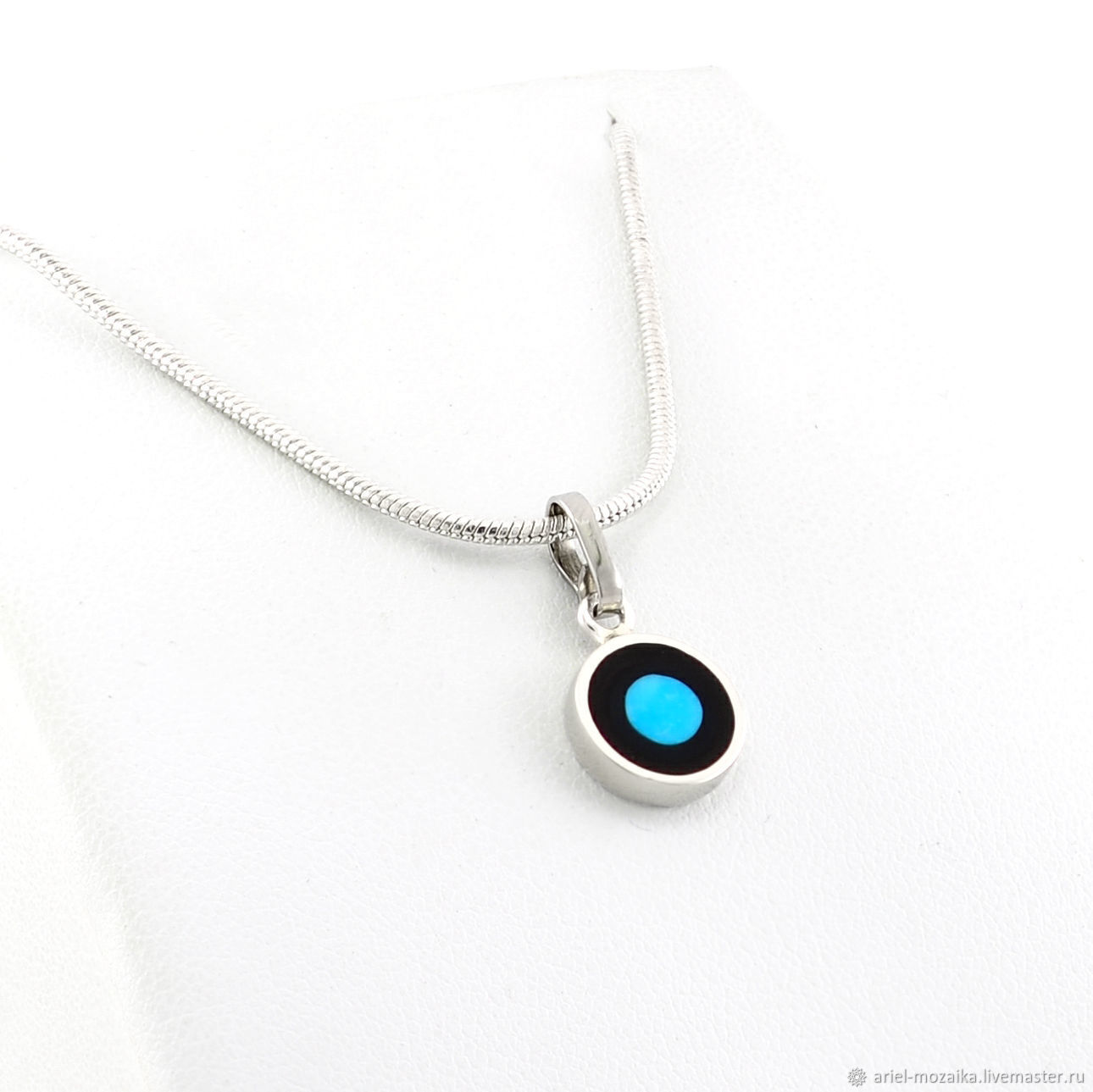 Pendant with turquoise. Small handmade pendant, Pendant, Moscow,  Фото №1