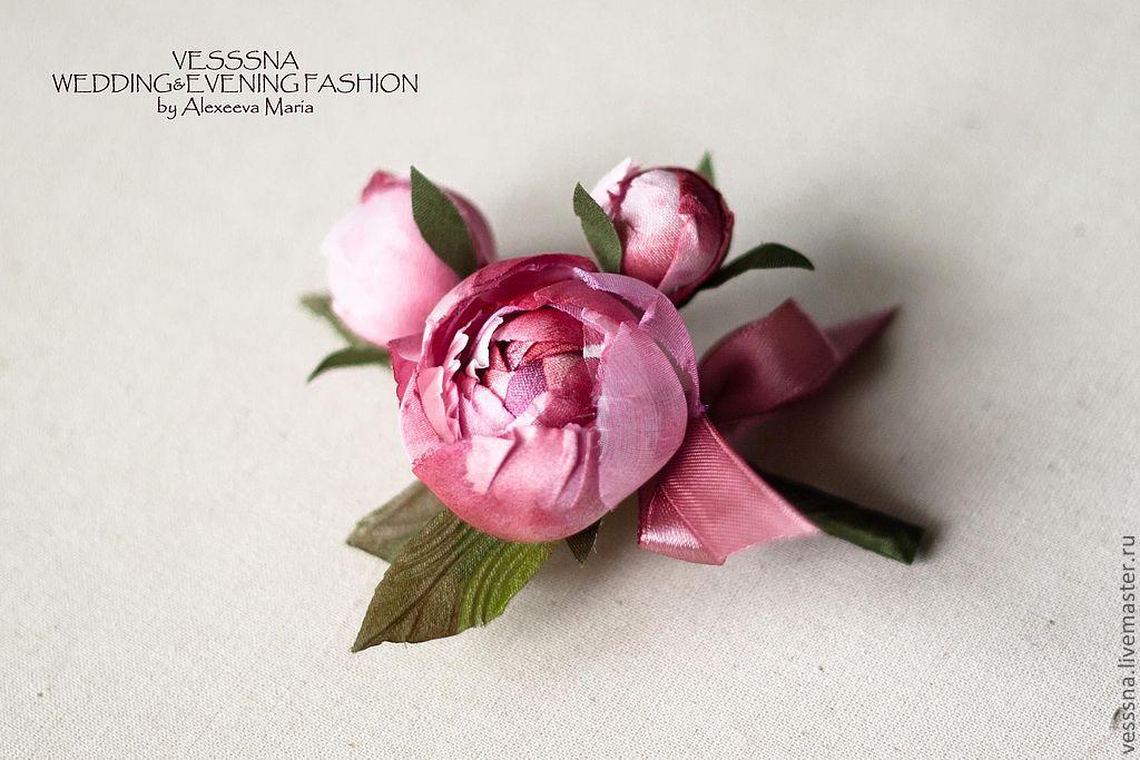 Ярмарка мастеров цветы из шелка пошаговый мастер класс + видео #1