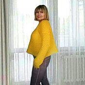 Одежда handmade. Livemaster - original item Kid/mohair jumper, bright yellow.. Handmade.