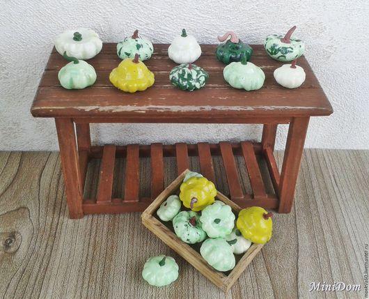 Кукольный дом ручной работы. Ярмарка Мастеров - ручная работа. Купить Еда для кукол - Овощи Патиссоны для кукольной миниатюры. Handmade.