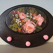 """Для дома и интерьера ручной работы. Ярмарка Мастеров - ручная работа Вешалка  """"Розы в черном"""". Handmade."""