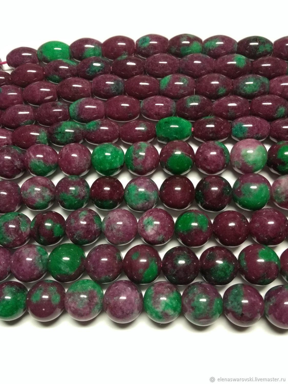 Для украшений ручной работы. Ярмарка Мастеров - ручная работа. Купить Цоизит с рубином бусины 6 мм , 12 мм и бочонки 14х10 мм. Handmade.